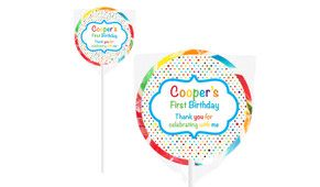 Happy Dots Birthday Personalised Lollipops
