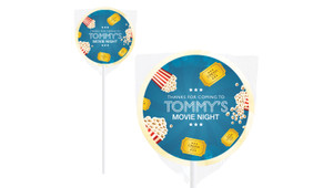 Movie Night Birthday Personalised Lollipops