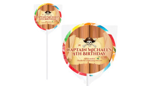 Pirate Treasure Map Birthday Personalised Lollipops