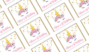 A Pretty Unicorn Personalised Birthday Mini Chocolates