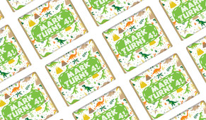 Dinosaur Background Personalised Birthday Mini Chocolates