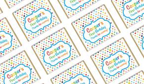 Happy Dots Personalised Birthday Mini Chocolates
