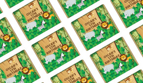 Jungle Animals Personalised Birthday Mini Chocolates