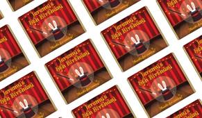 Magician Personalised Birthday Mini Chocolates