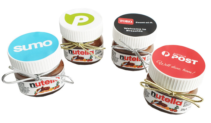 Mini Nutella Jars With Personalised Label