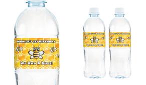 Bumblebee Personalised Water Bottle Labels