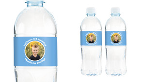 Add A Photo Boys Personalised Water Bottle Labels