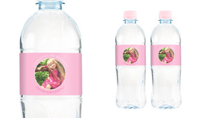 Add A Photo Girls Personalised Water Bottle Labels