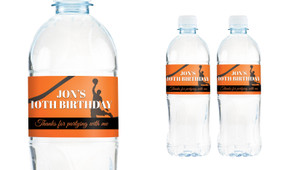 Basketball Personalised Water Bottle Labels