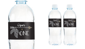 Boho Arrow Personalised Water Bottle Labels
