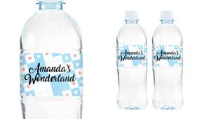 Alice In Wonderland Personalised Water Bottle Labels