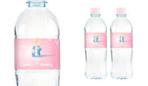 Ballety Shoes Personalised Water Bottle Labels