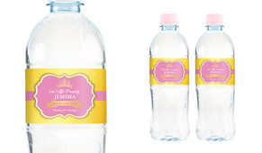 Little Princess Personalised Water Bottle Labels