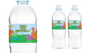 Dinosaur Personalised Water Bottle Labels