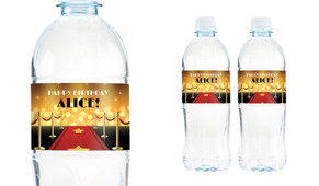 Hollywood Personalised Water Bottle Labels
