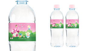 Fairy Garden Personalised Water Bottle Labels
