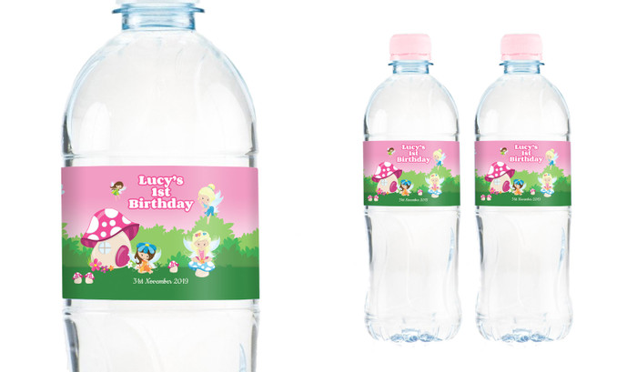 Fairy Garden Personalised Water Bottle Labels