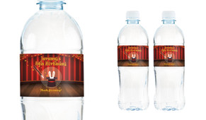 Magician Personalised Water Bottle Labels
