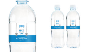 Little Man Personalised Water Bottle Labels