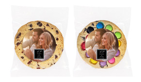 A Photo With Black Square Personalised Cookie