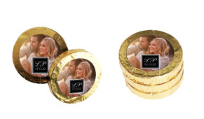 A Photo With Black Square Personalised Chocolate Coins