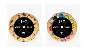 Date Circle In Black Personalised Cookie