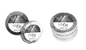 Add A Photo Personalised Wedding Chocolate Coins