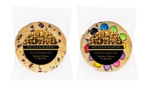 Gold Bokeh Personalised Cookie