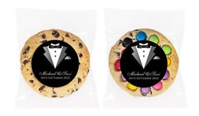 Groom And Bride Suit Personalised Cookie