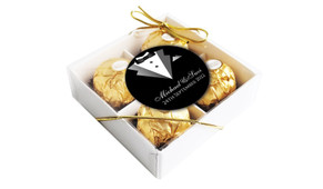 Bride And Groom Suit Wedding Personalised Chocolate Ferrero Rocher Gift Box