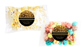 Gold Bokeh Square Popcorn Bag With Personalisation