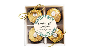 Branches On Cream Personalised Wedding Ferrero Rocher Gift Box