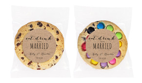 Eat, Drink And Be Married Kraft Personalised Cookie