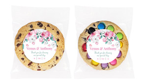 Falling Petals Personalised Cookie