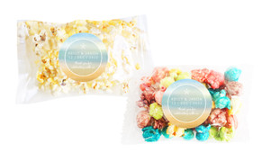 Beach Watercolour Square Popcorn Bag With Personalisation
