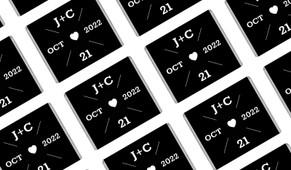 Date Circle In Black Wedding Mini Chocolates