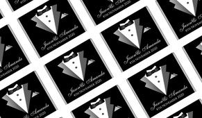Bride And Groom Suit Wedding Mini Chocolates