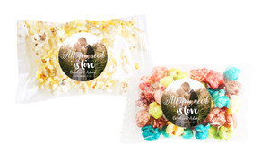 All You Need Is Love Square Popcorn Bag With Personalisation
