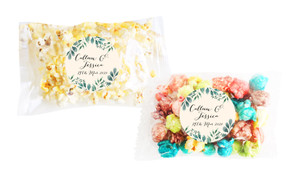 Branches On Cream Square Popcorn Bag With Personalisation