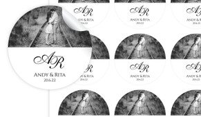 Add A Photo Personalised Wedding Personalised 65mm Labels