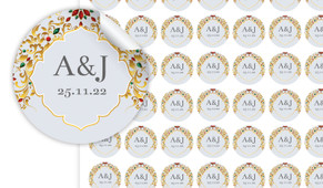 Decorated Jewelry Personalised 25mm Labels