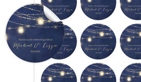 Evening Mason Jars Personalised 65mm Labels