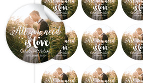 All You Need Is Love Personalised 65mm Labels