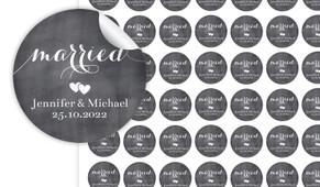 Flowing Words On Chalkboard Personalised 25mm Labels