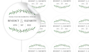 Green Branches Personalised 65mm Labels