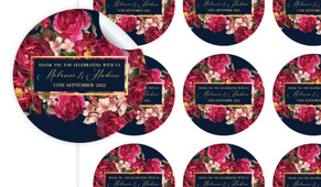 Bold Floral Personalised 65mm Labels
