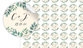 Branches On Cream Personalised 25mm Labels