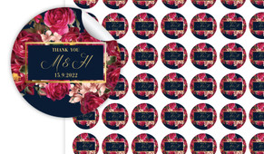 Bold Floral Personalised 25mm Labels