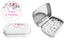 Falling Petals Personalised Mint Tin