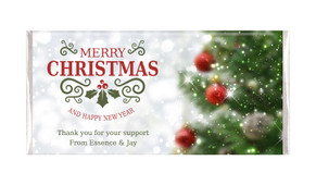 Bokeh Tree Personalised Christmas Chocolate Bar